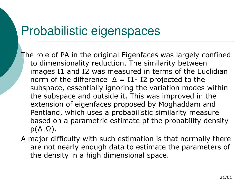 Probabilistic eigenspaces
