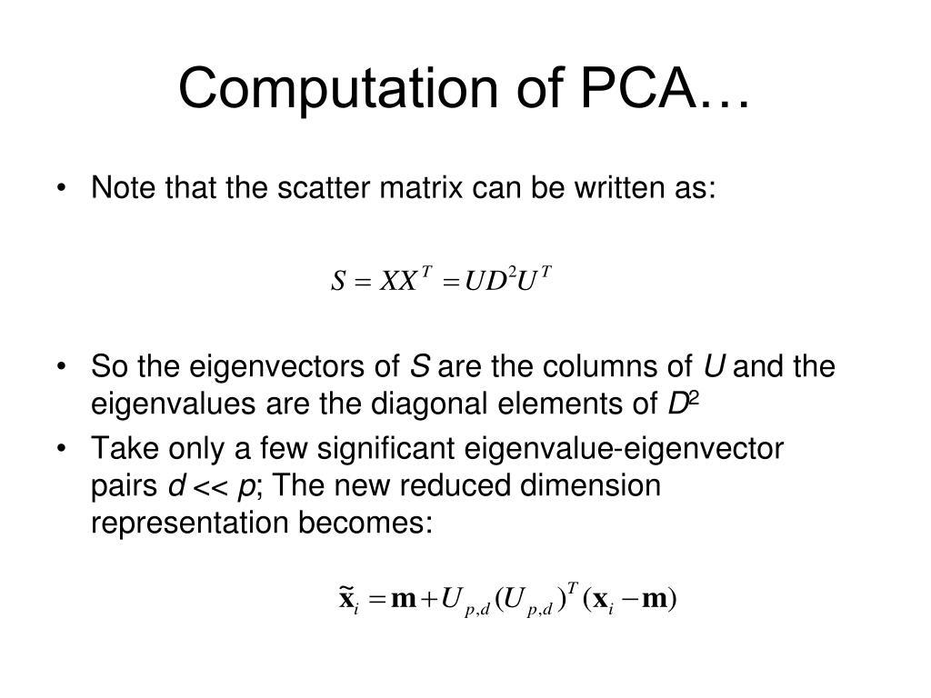 Computation of PCA…