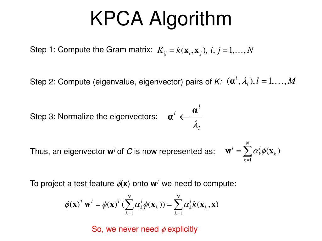 KPCA Algorithm
