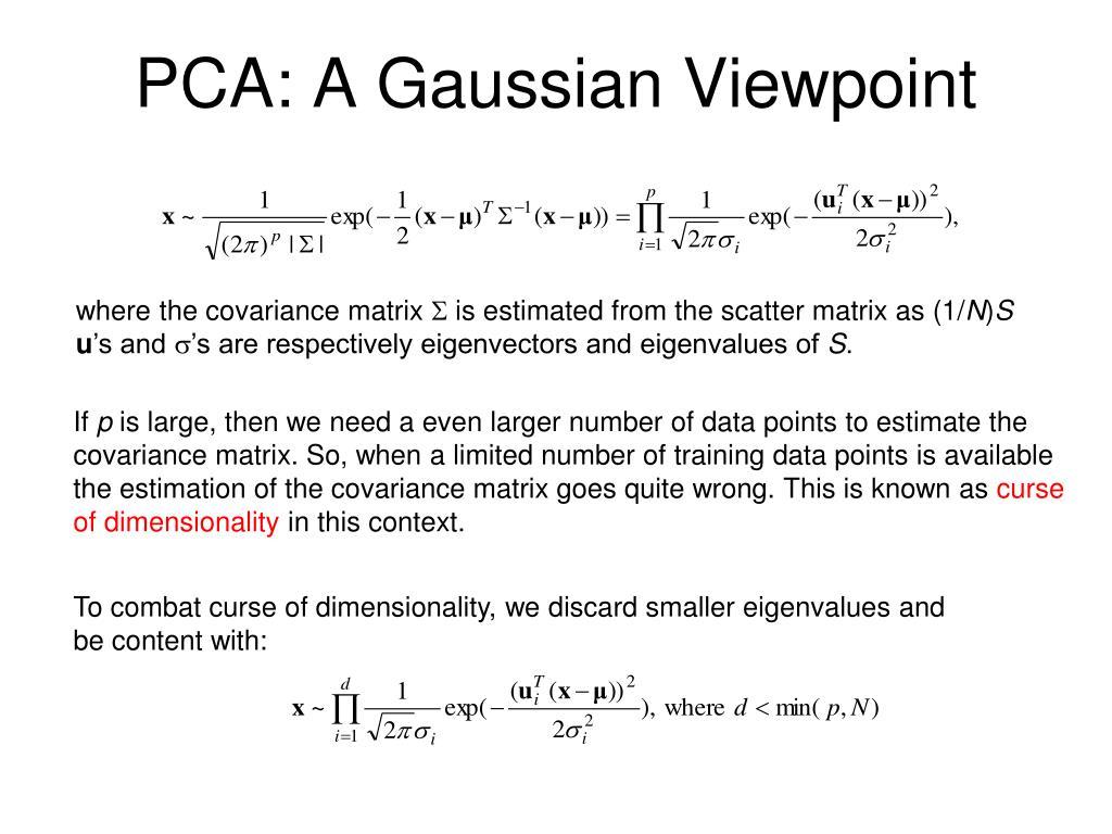 PCA: A Gaussian Viewpoint
