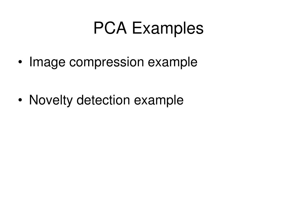 PCA Examples