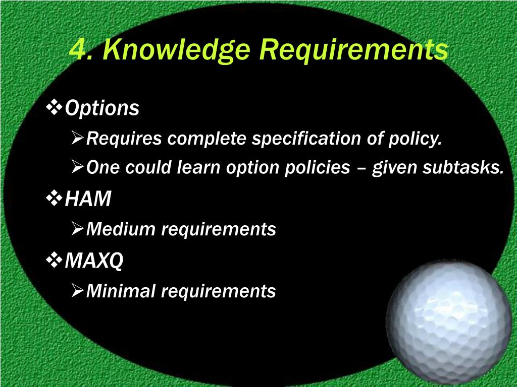 4. Knowledge Requirements
