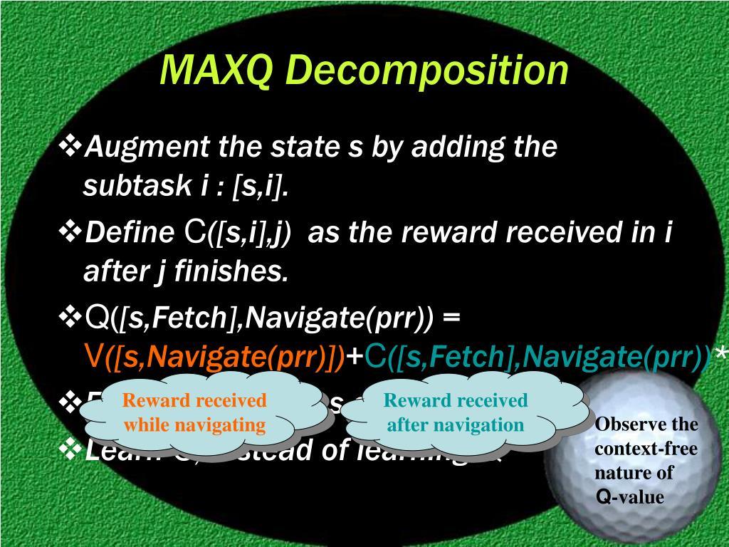 MAXQ Decomposition