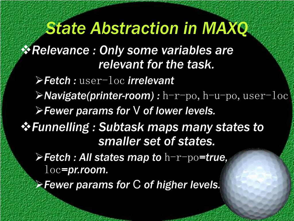State Abstraction in MAXQ
