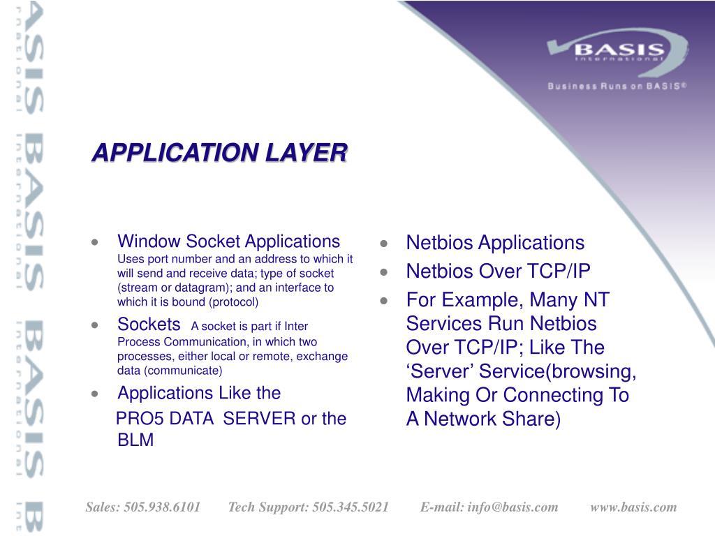 Window Socket Applications