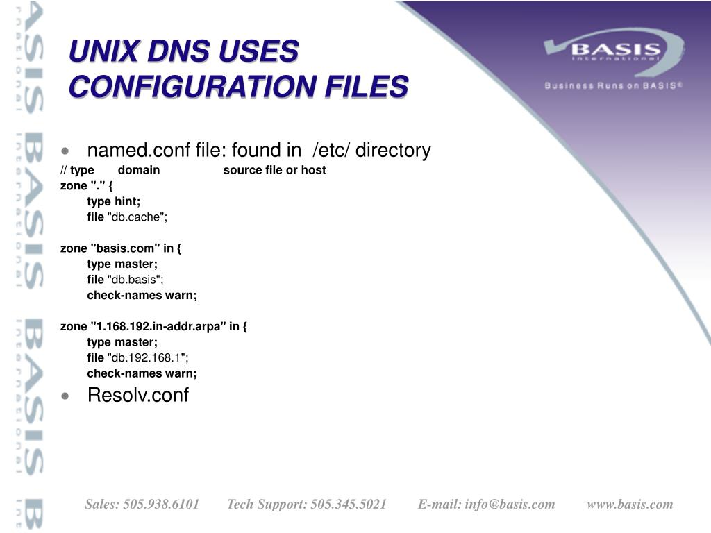 UNIX DNS USES