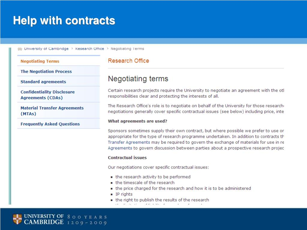 Help with contracts