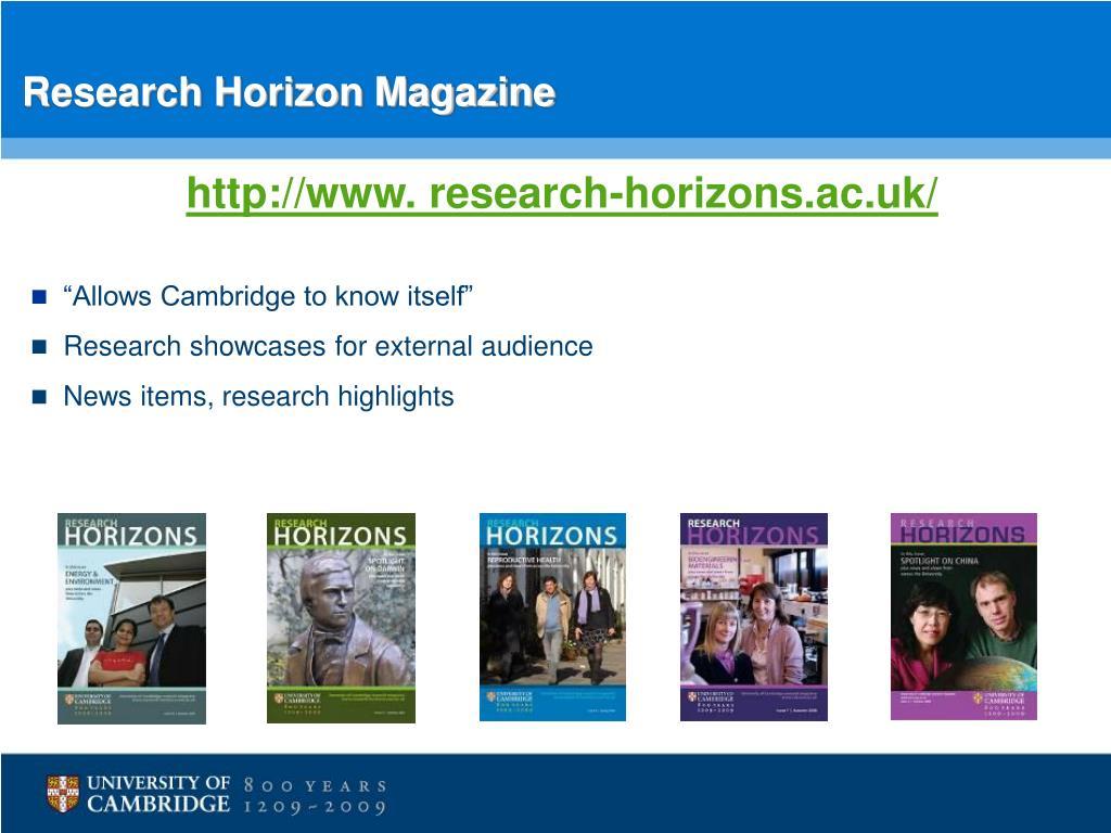 Research Horizon Magazine