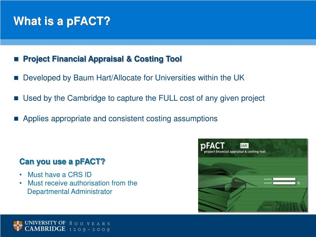 What is a pFACT?