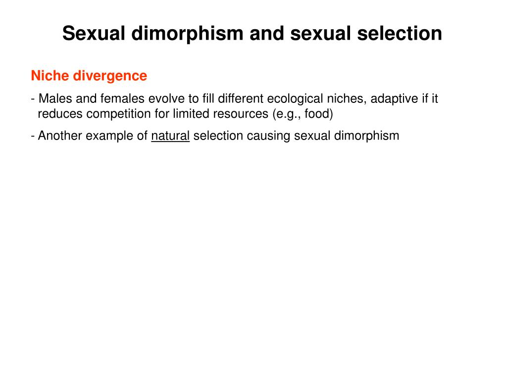 Sexual dimorphism and sexual selection