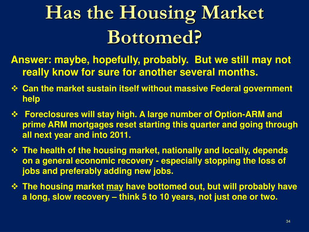 Has the Housing Market Bottomed?