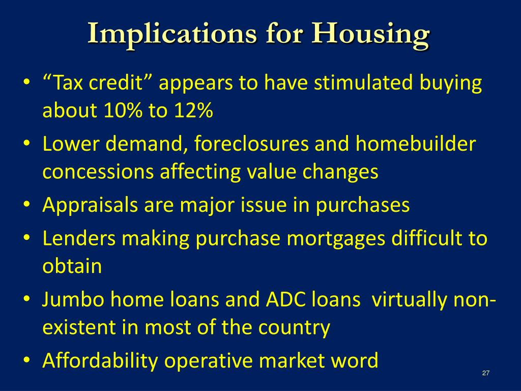 Implications for Housing