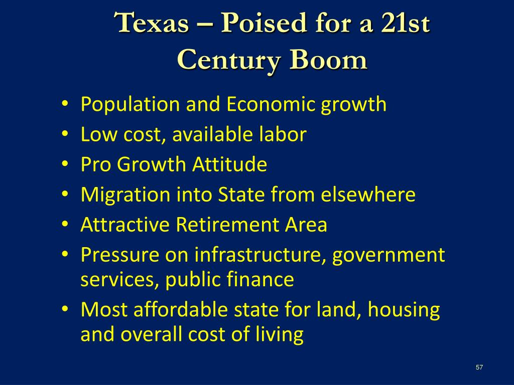Texas – Poised for a 21st Century Boom