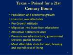 texas poised for a 21st century boom