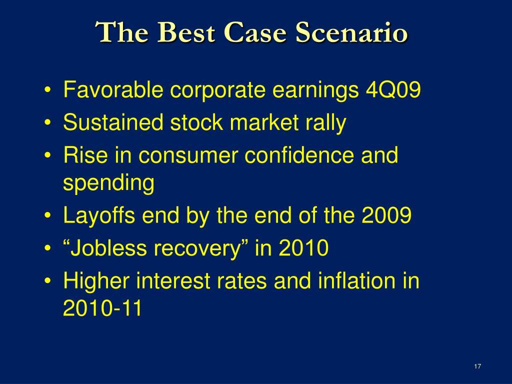 The Best Case Scenario