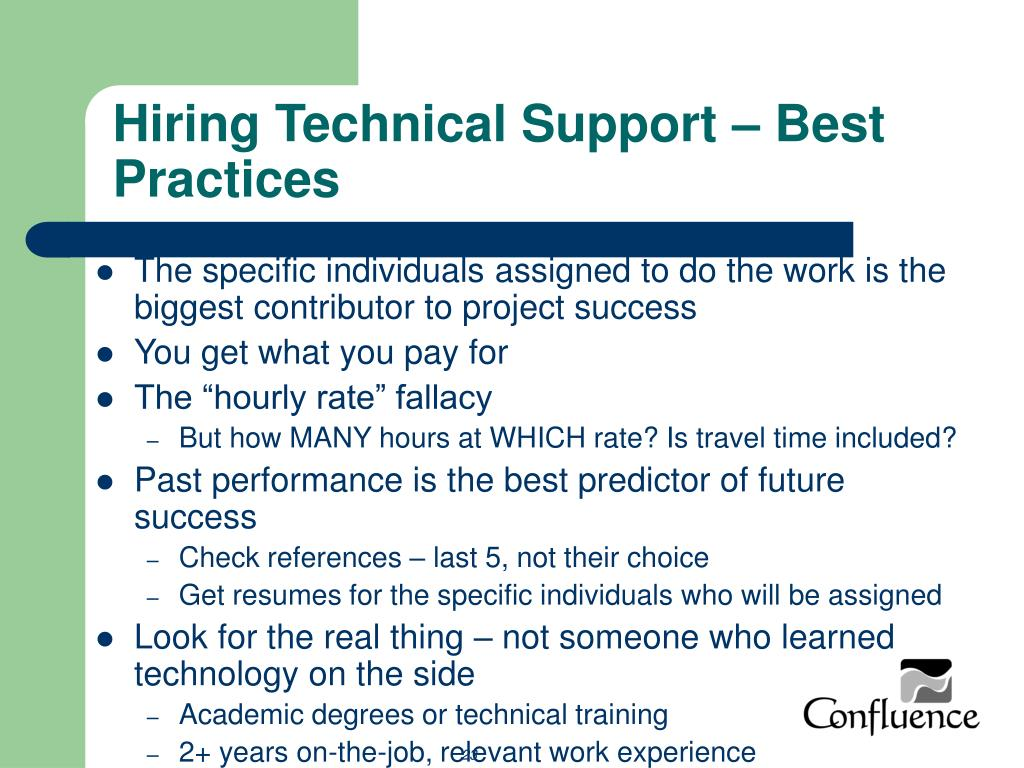 Hiring Technical Support – Best Practices