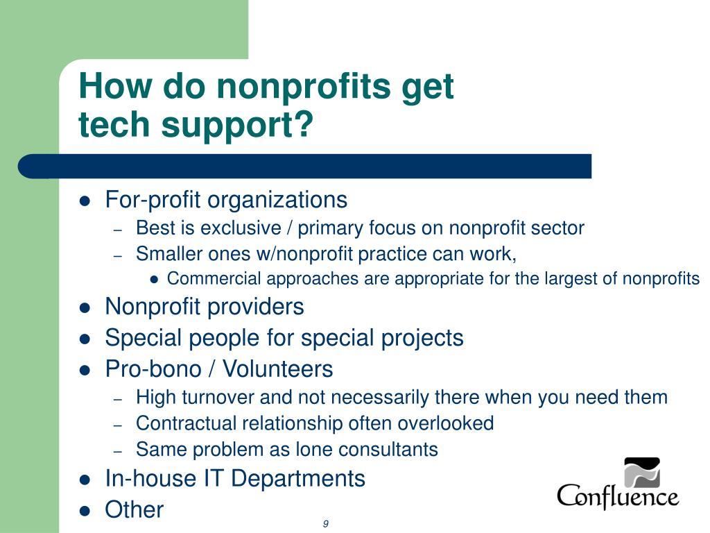 How do nonprofits get