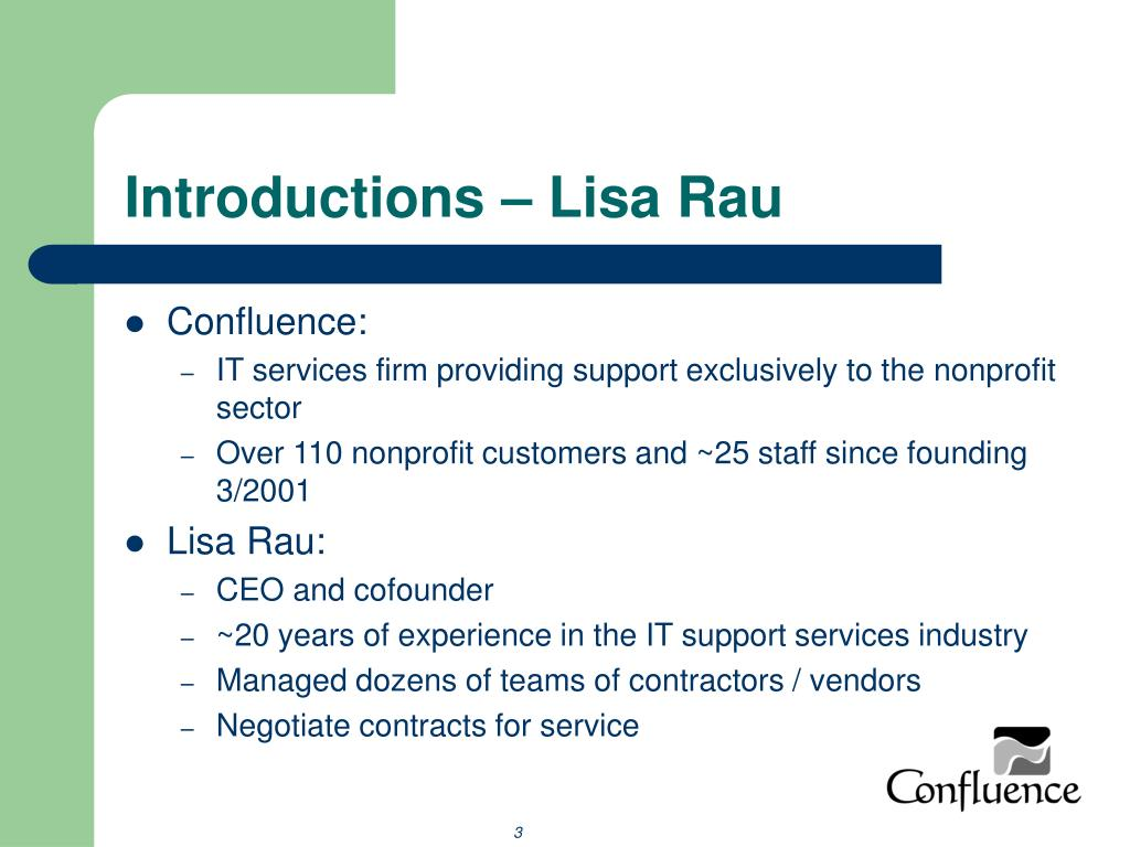 Introductions – Lisa Rau