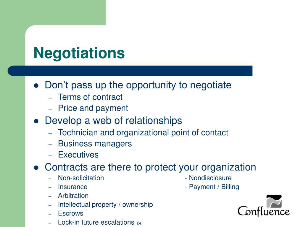Negotiations