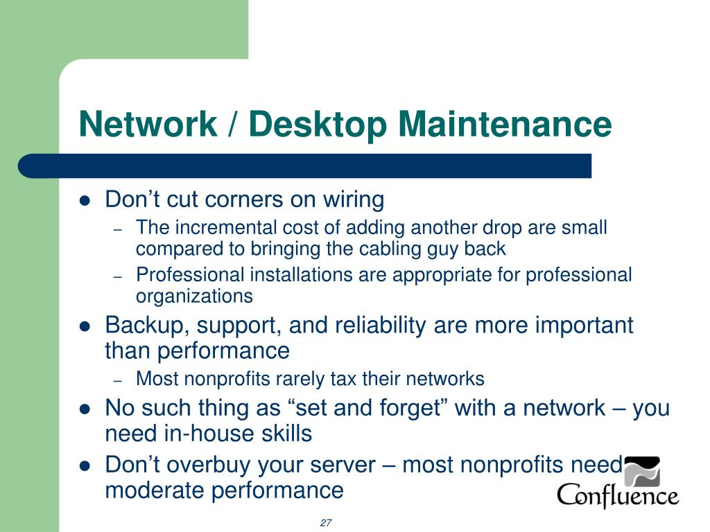 Network / Desktop Maintenance