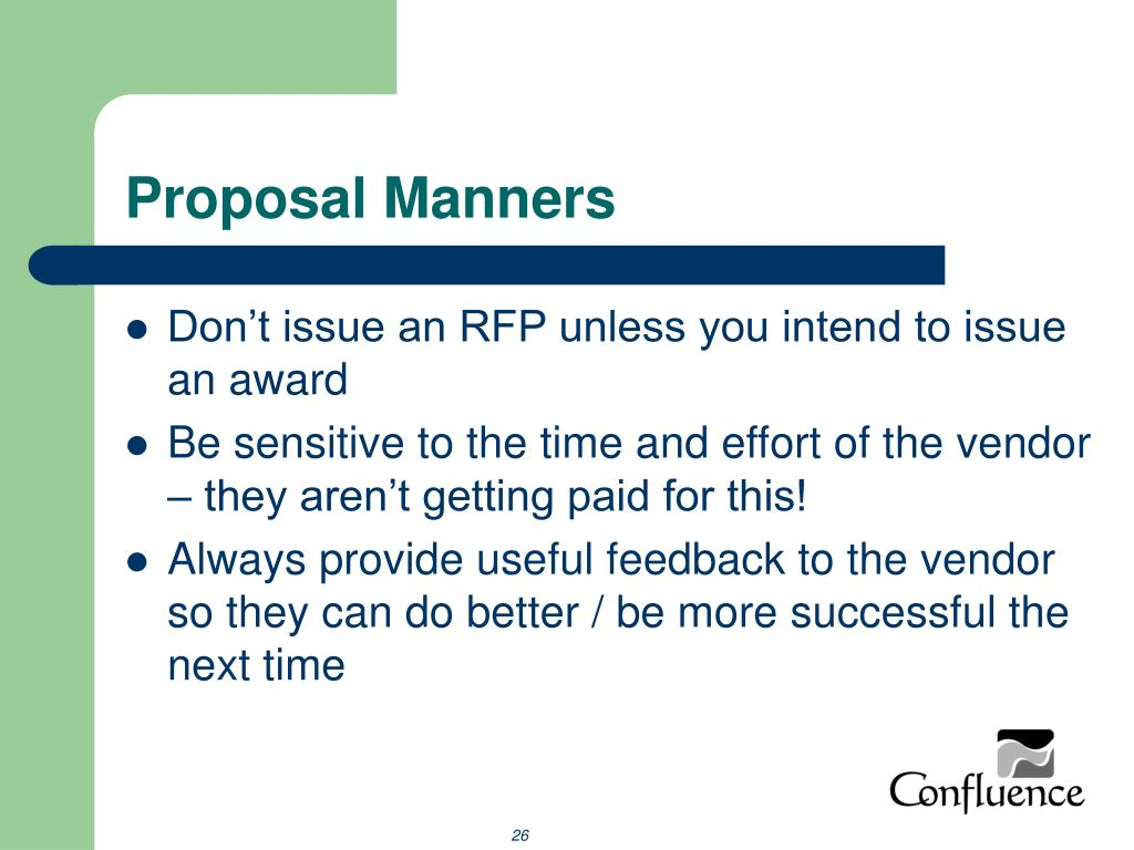 Proposal Manners