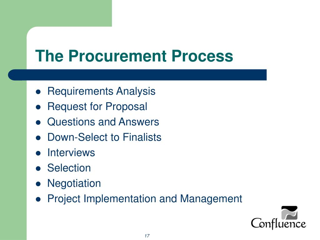 The Procurement Process