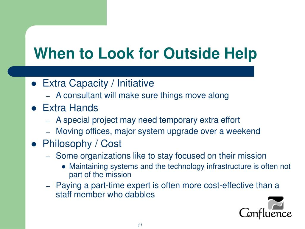 When to Look for Outside Help