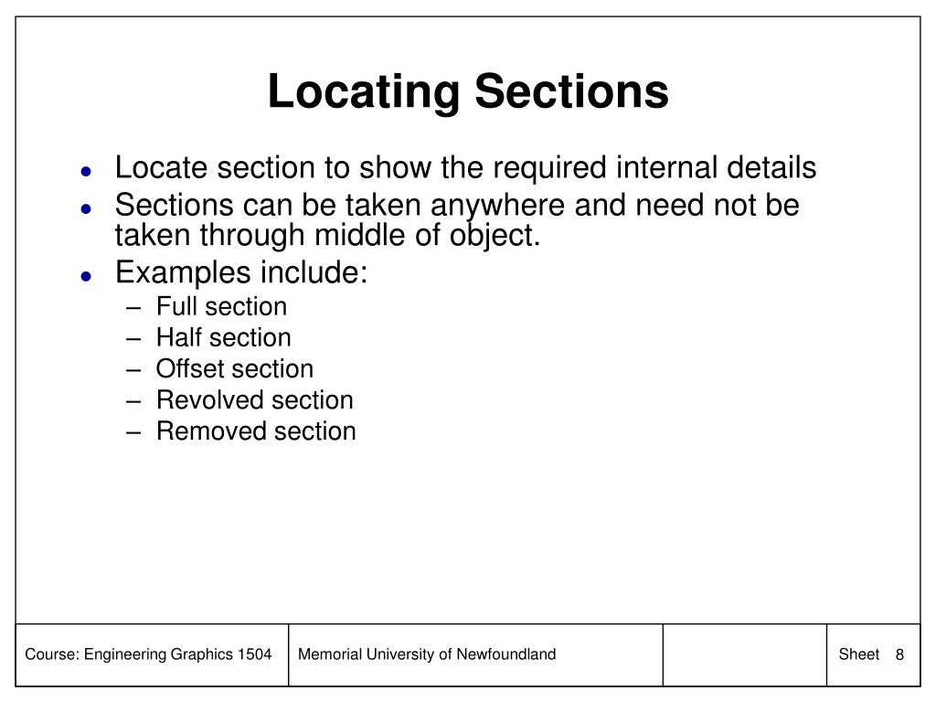 Locating Sections