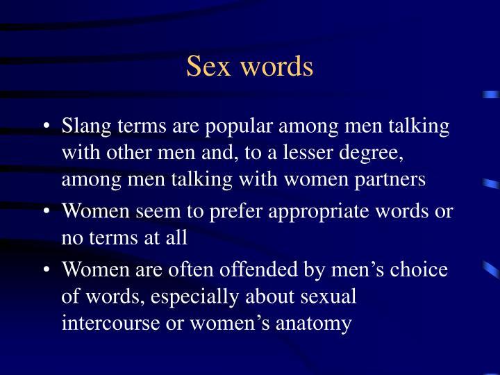 Sex words