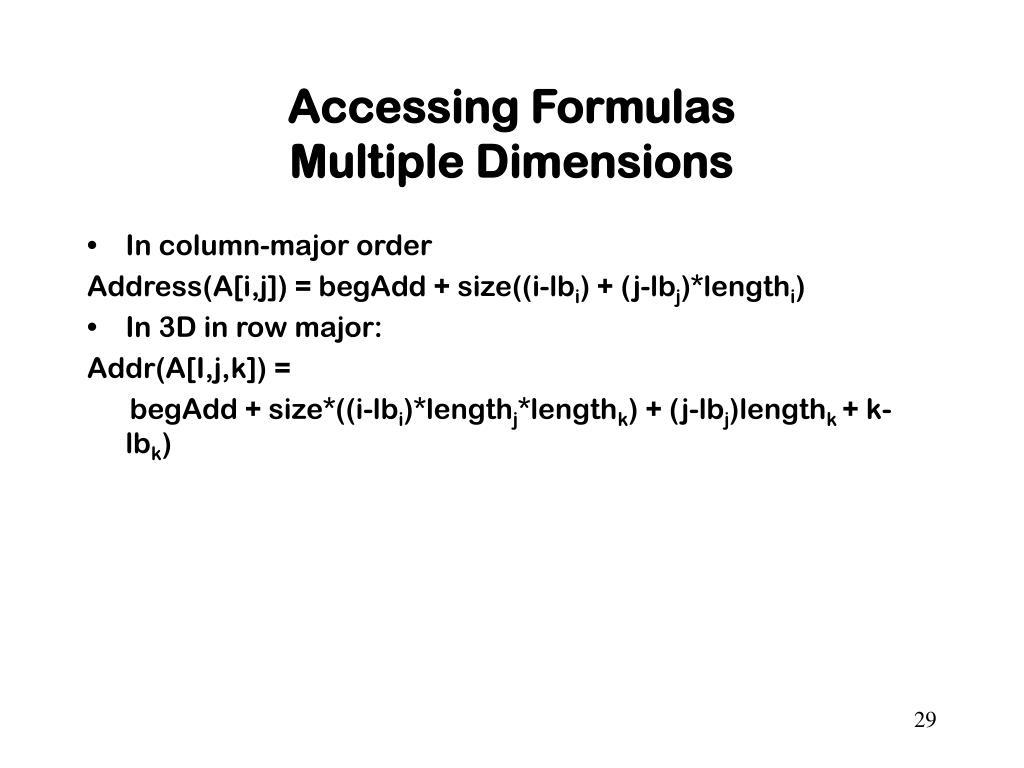 Accessing Formulas