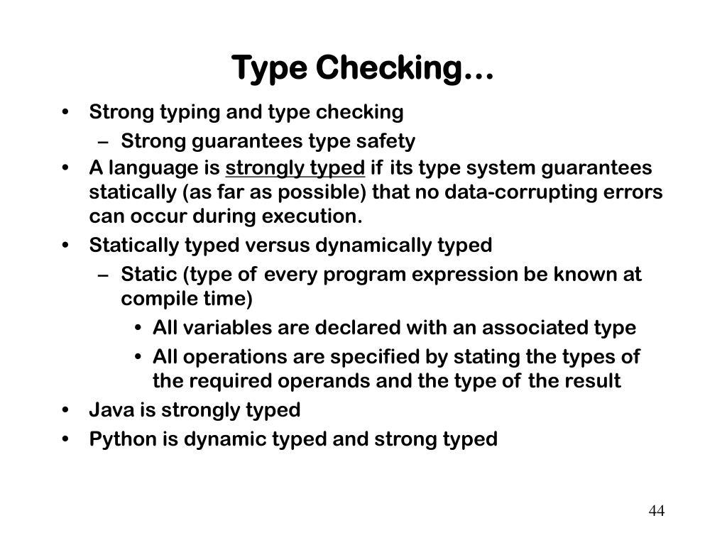 Type Checking…