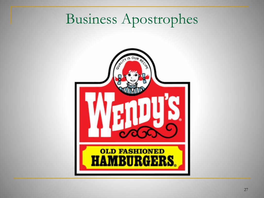Business Apostrophes