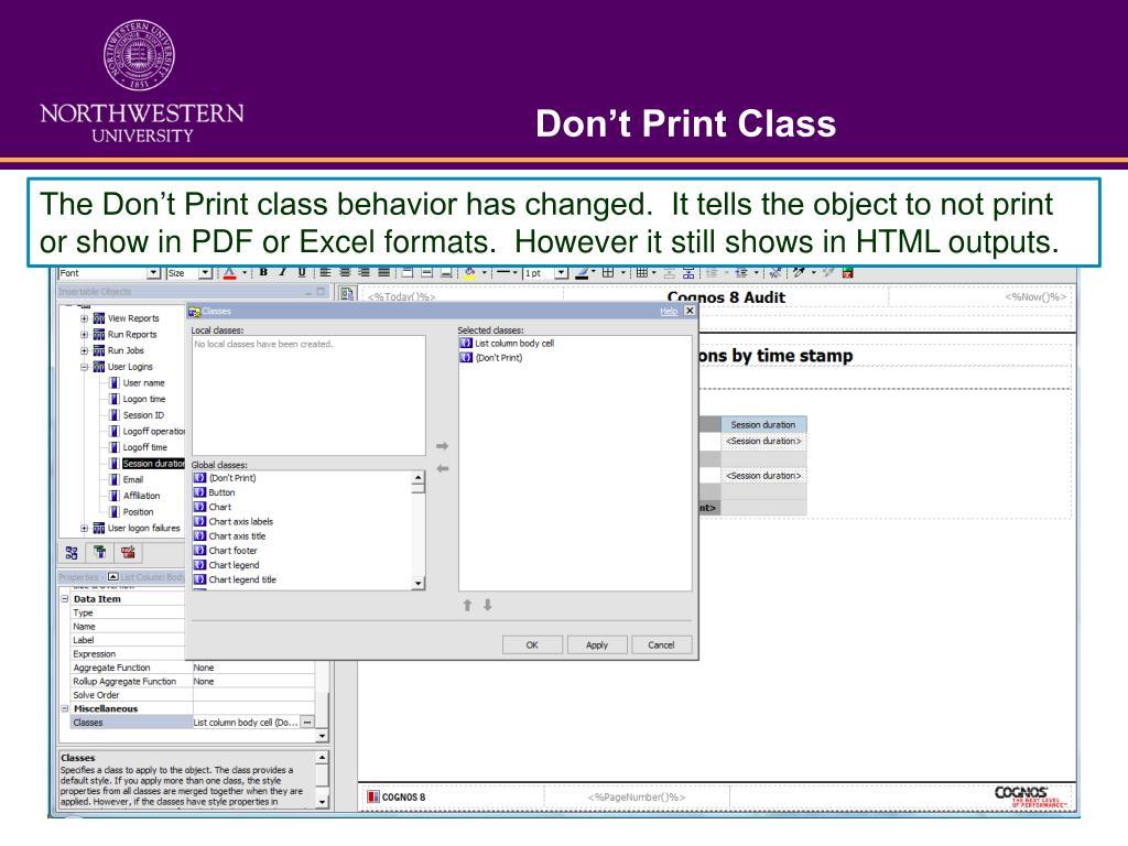 Don't Print Class