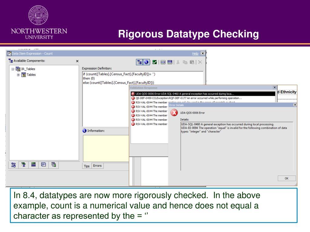 Rigorous Datatype Checking