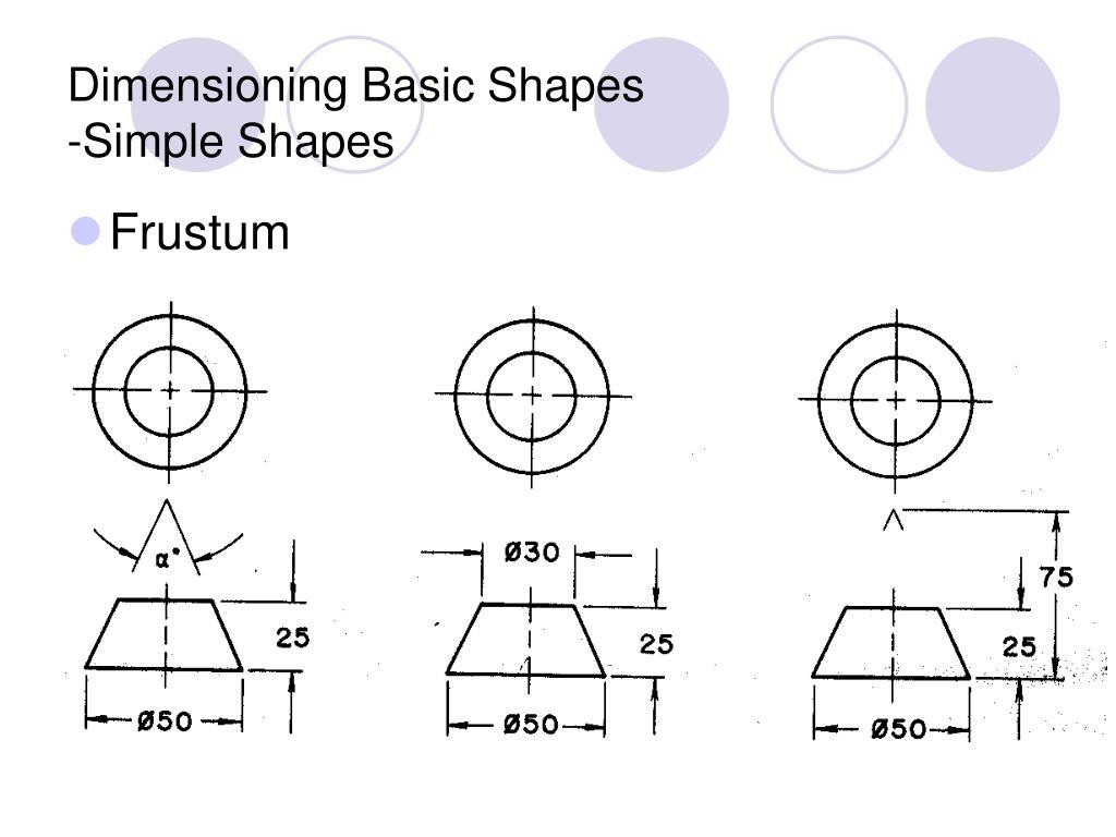 Dimensioning Basic Shapes