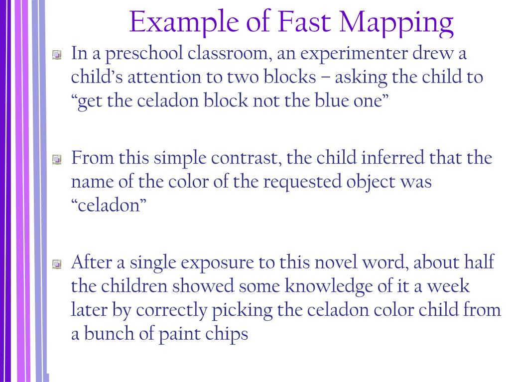 Example of Fast Mapping