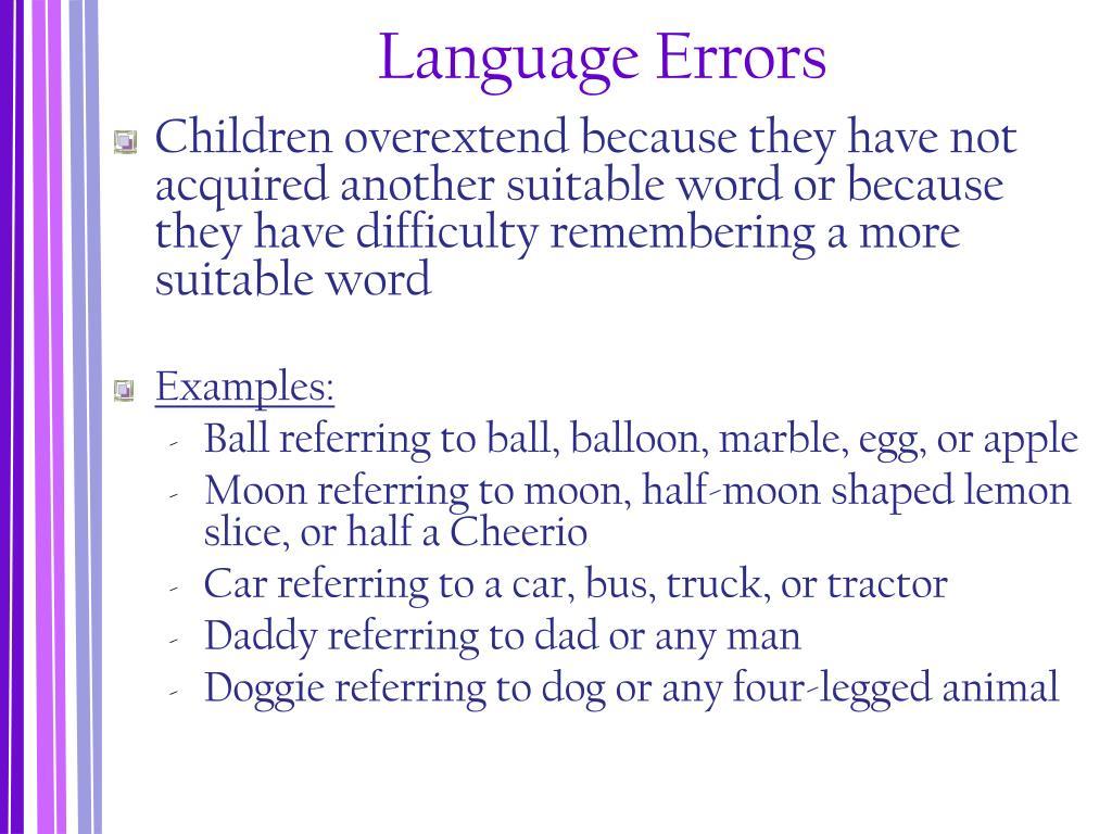 Language Errors