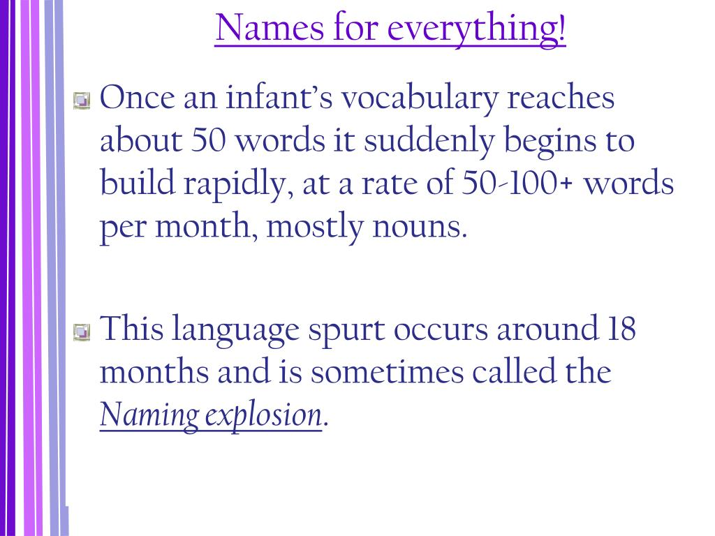 Names for everything!