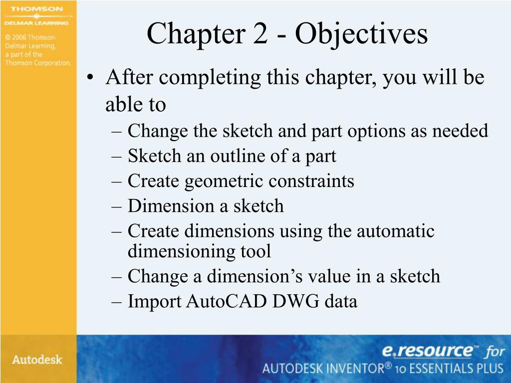 Chapter 2 - Objectives