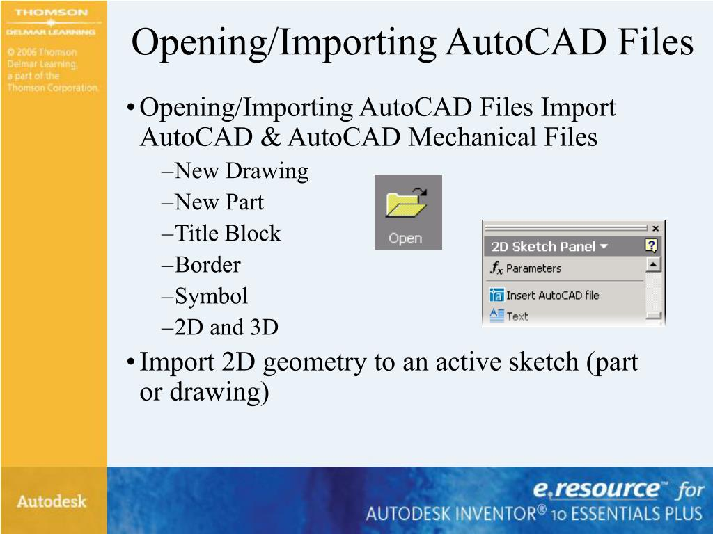 Opening/Importing AutoCAD Files