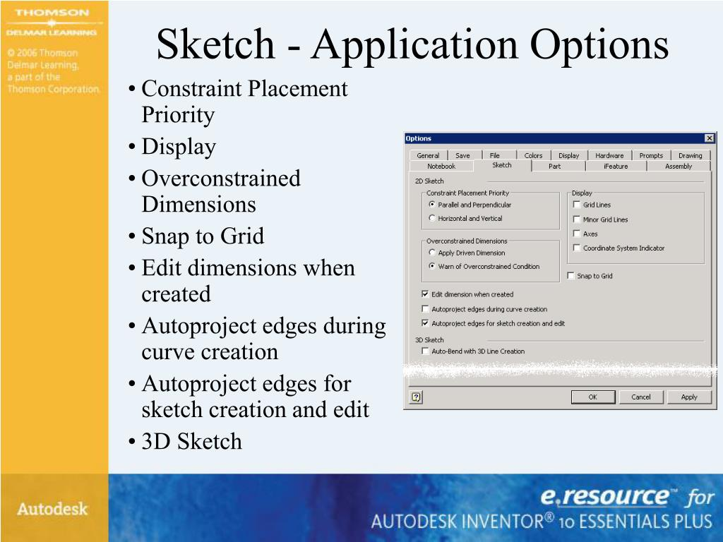 Sketch - Application Options