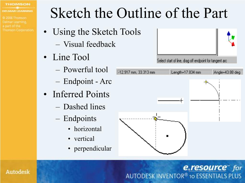 Sketch the Outline of the Part