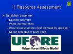 1 resource assessment