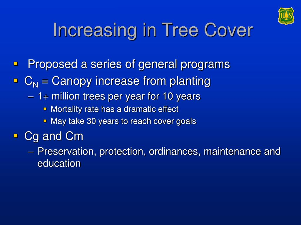 Increasing in Tree Cover