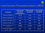 land surface parameterizations mm5