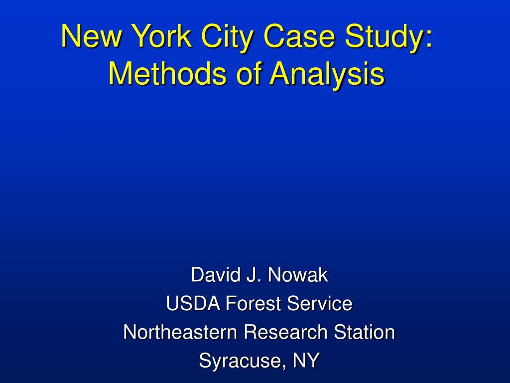 new york city case study methods of analysis