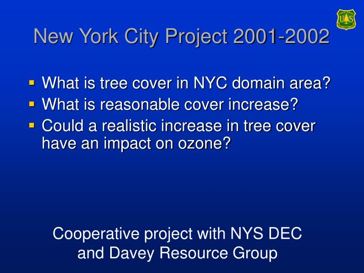 New york city project 2001 2002