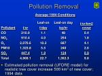 pollution removal