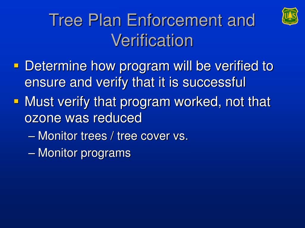 Tree Plan Enforcement and Verification