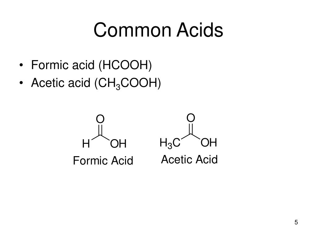 Common Acids